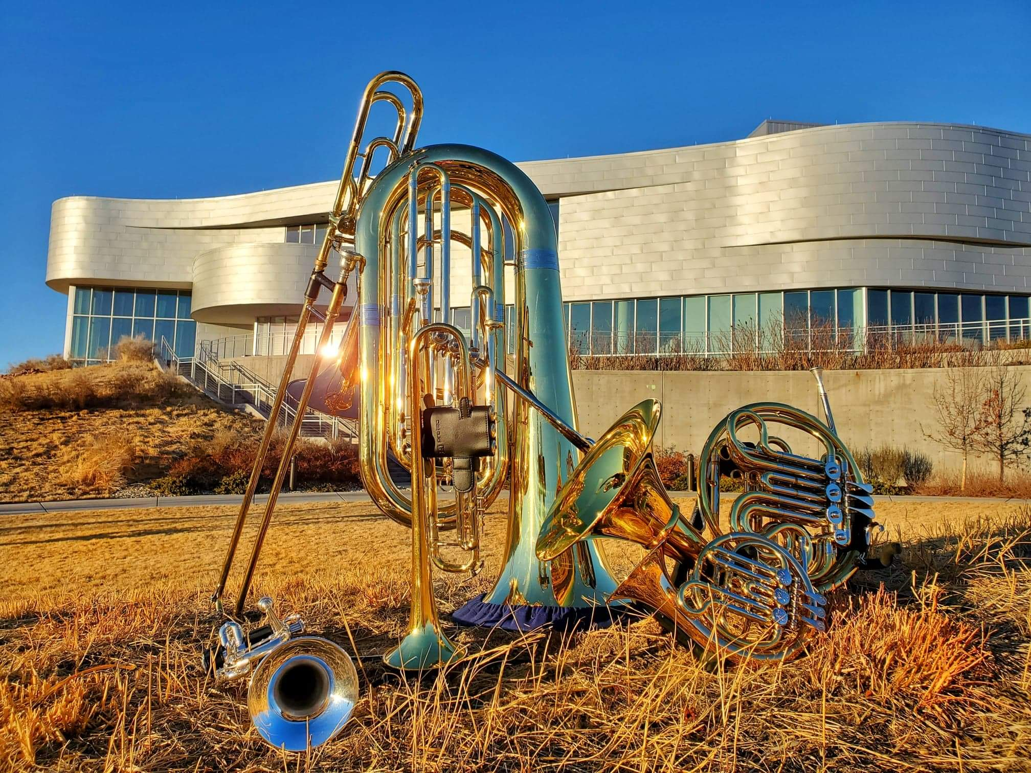 brass instruments with ent center for the arts background
